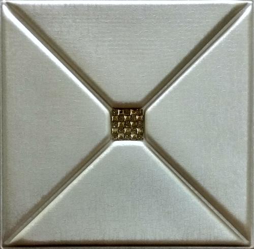 Beige Metallic 3D Leather Panel