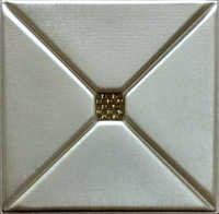 Beige Metallic 3D Leather Panel