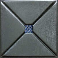 Metallic Silver 3D Leather Panel