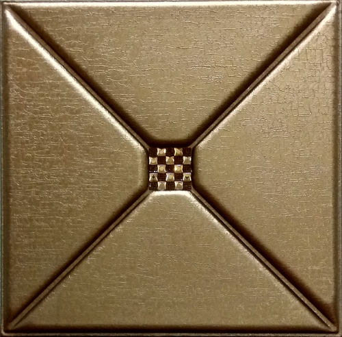 3D Leather Panel Metallic Copper