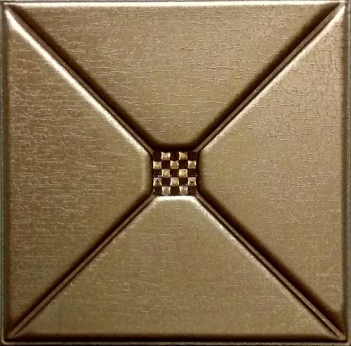 Metallic Copper 3D Leather Panel