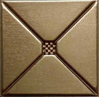 Metallic Copper 3D Leather Panel
