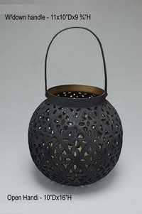 Iron and Steel Flower Vases
