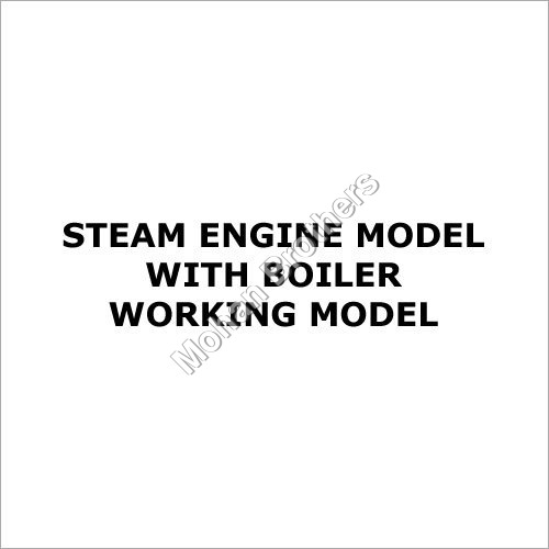 Steam Engine Model With Boiler - Working Model