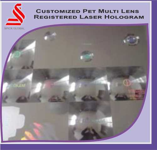 Multi Lens Laser Hologram Labels Stickers