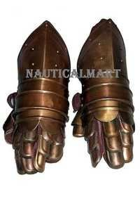 Medieval Knight Armor Gauntlets Halloween Costume