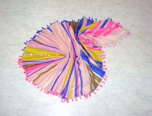 Silk Cotton Mix Color Stoles