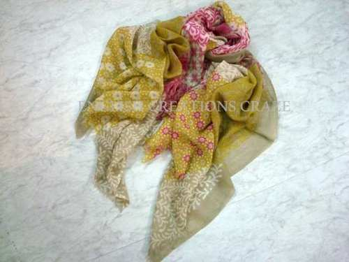 Silk Wool Print Scarves