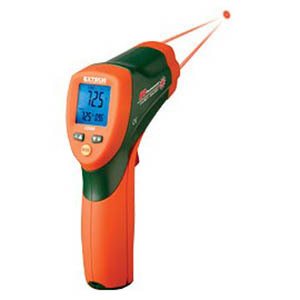 Dual Laser IR Thermometer with Color Alert
