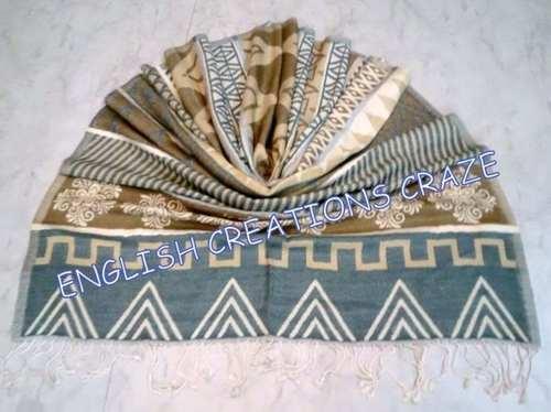 Wool Acrylic Jacquard Scarves