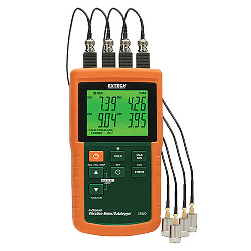 4-Channel Vibration Meter/Datalogger