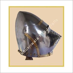 Pig Face Bascinet Helmet - KHUKRIWALA HANDICRAFTS, No  5