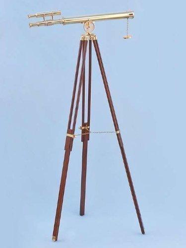 Floor Standing Brass Griffith Double Barrel Telescope, 64