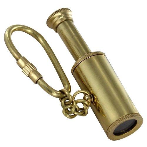 Reach for the Stars Full  Brass Telescope Key Chain