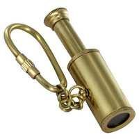 Reach for the Stars Full  Brass Telescope Key Chain
