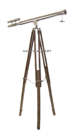 Replica Chrome Finish Decorative Telescope
