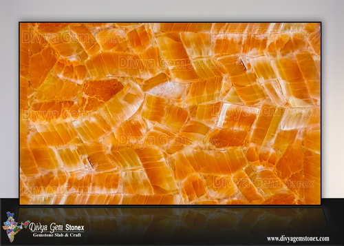 Orange Selenite Slab