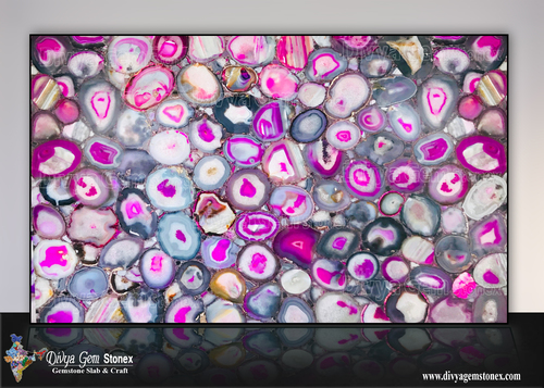 Brazilian Pink Agate Slabs
