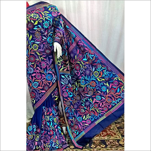 Multi Color Silk Kantha Saree
