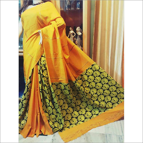 Yellow Khesh Gurjari Saree