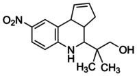 2-Methyl-2-[8-nitro-3a,4,5,9b-tetrahydro-3H-cyclopenta[c]quinolin-4-yl]propan-1-ol