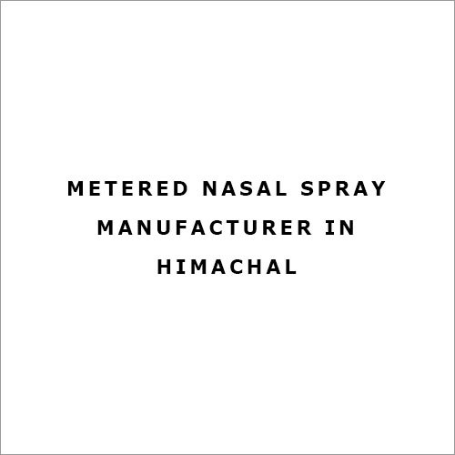 Metered Nasal Spray Manufacturer in Himachal