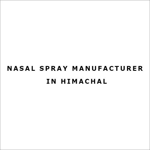 Nasal Spray Manufacturer in Himachal