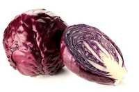 Red Cabbage Showing Seeds
