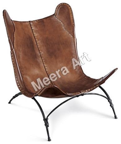 Brown Leather beach Chair
