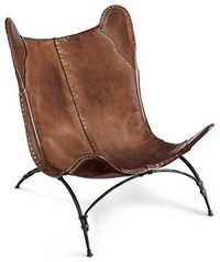Brown Leather beach Chair