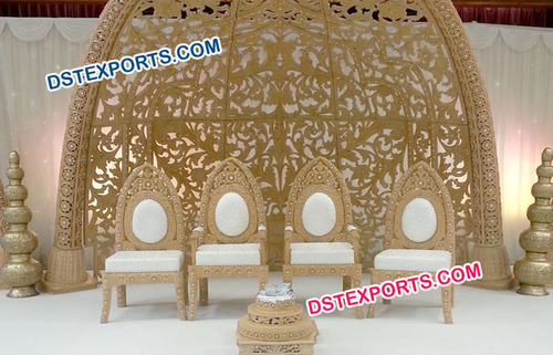 Wooden Carved Wedding Chair