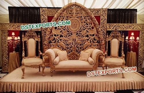 Fiber Carved Backdrop for Weddings