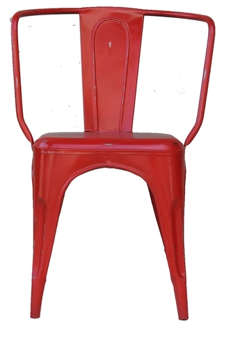 Classic Red Iron Outdoor Chair