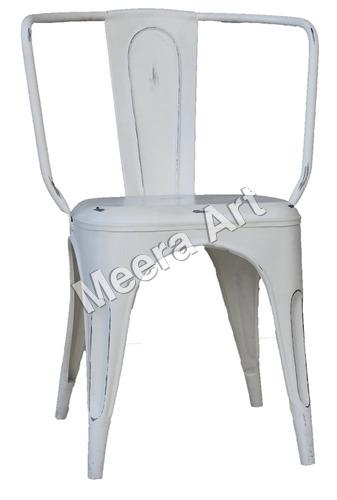 White Standard look Iron Chair