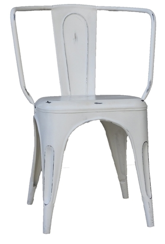 White Standard look Iron Chair
