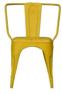 Yellow Outdoor Iron Chair