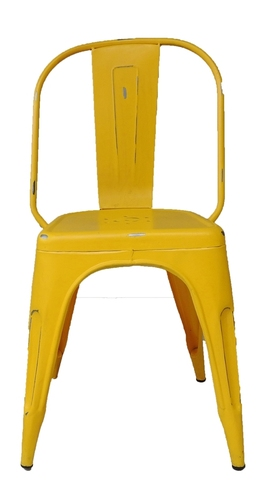 Yellow Iron Chair
