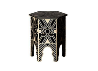 Modern Antique Bone Inlay Handmade Stool