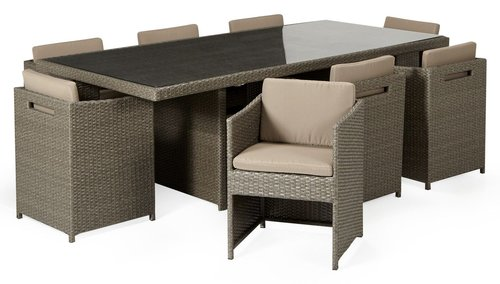 Wooden Modern Dining Chairs And Table
