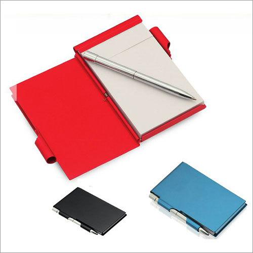 Aluminium Cover Notebook With Pen