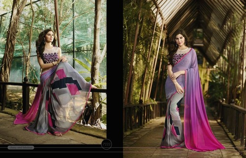 Georgette Digital Printed Saree