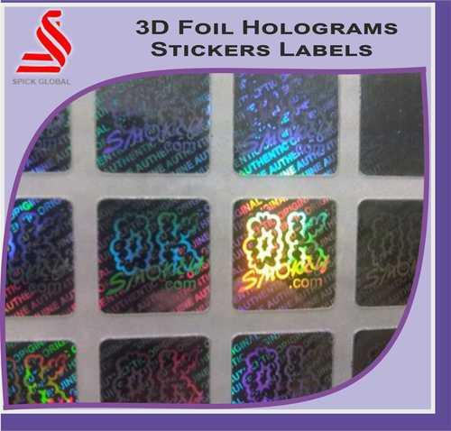 Custom 3D Foil Hologram Labels Stickers