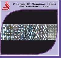 Custom 3D Holographic Laser Hologram Label