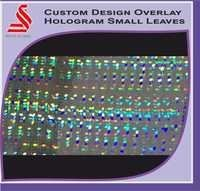 Holographic Custom Design Small Leaves Hologram Labels Stickers