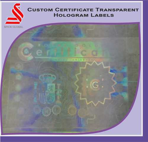Custom Certificate Holographic Labels Stickers