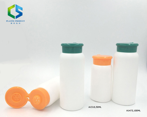 Plastic Empty Talcum Powder Bottle Powder Canister with Holes and Lid