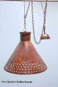 Aluminium - brass ceiling lamp