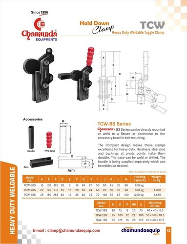 Heavy Duty Weldable Toggle Clamp