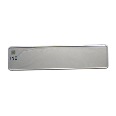 Blank Acrylic Number Plate