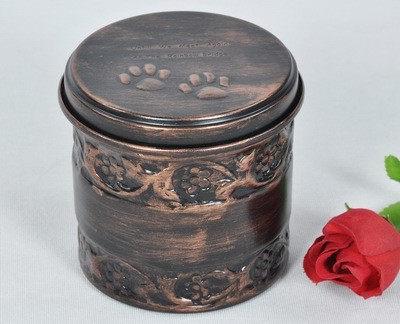 PET PAW PRINT COPPER ANTIQUE URN